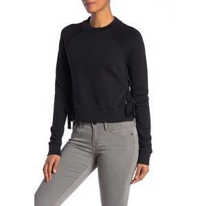 All Saints Leti Cropped Black Sweatshirt